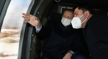 Cumhurbaşkanı Erdoğan Elazığda... Deprem konutlarını inceledi...