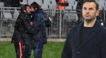 TFF Süper Kupa maçında olay çıktı Okan Buruk ve Egemen Korkmaz...