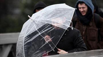 Meteoroloji il il duyurdu Sağanak yağış ve fırtına uyarısı