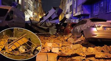 İstanbulda birçok bölgede çatılar uçtu