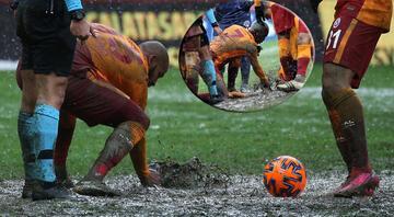 Galatasaray maçına damga vuran görüntü Marcao ve Onyekuru elleriyle temizledi