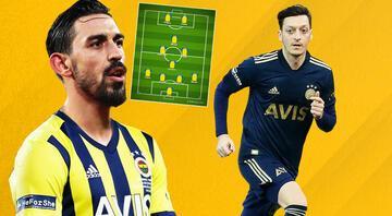 Fenerbahçede Erol Bulutun Mesut Özil, İrfan Can ve Pelkaslı yeni dizilişi