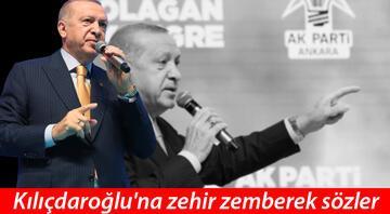 Erdoğandan Kılıçdaroğluna sert sözler: Sen ne yüzsüzsün, terbiyesiz herif