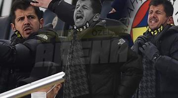 Fenerbahçede Emre Belözoğlu tribünde çılgına döndü Çok sinirlendi...