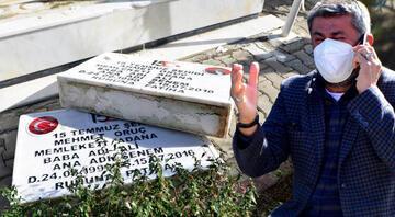 Şehit polis memurlarının mezar taşları kırılmıştı Harekete geçildi