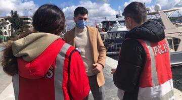 Beşiktaş Sahilinde koronavirüs denetimi