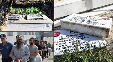 Adanada şehit polislerin mezarı bu hale getirilmişti DEAŞın sözde Türkiye emirinin oğlu ve yeğeni tahrip etmiş