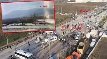 Bursa-Ankara yolunda feci kaza TIR araçları biçti, ortalık savaş alanına döndü