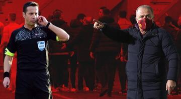 Kayserispor-Galatasaray maçında saha kenarı karıştı Fatih Terim hakemle konuştu, karar değişti