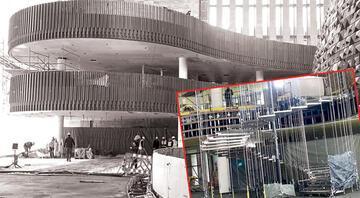 Yeni AKM'de o ünlü merdivenler de ortaya çıktı