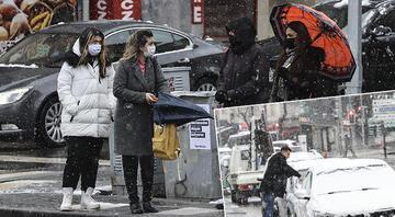 Ankarada yoğun kar Her yeri beyaza bürüdü