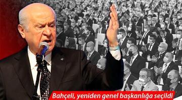 Bahçeli MHP genel başkanlığına yeniden seçildi