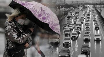 İstanbulda gök gürültülü sağanak yağış etkili oluyor Peş peşe uyarılar