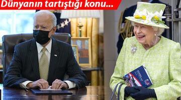 Biri ABD Başkanı, biri İngiltere Kraliçesi... Herkesin aklında aynı soru: Maskesini neden çıkarmıyor