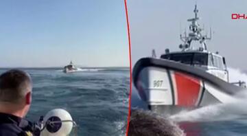 Yunan gemisine Türk Sahil Güvenliğinden müdahale
