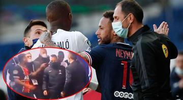 PSG - Lille maçında gerginlik Neymar ile Tiago Djalo tünelde tartıştı...