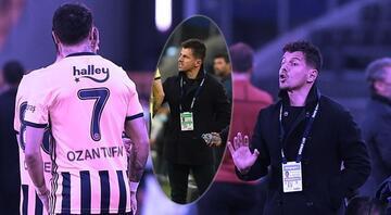 Emre Belözoğlu yerinde duramadı Fenerbahçe Denizlispor maçında dikkat çeken Galatasaray detayı...
