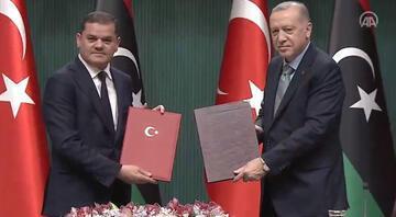 Libyayla kritik imzalar atıldı Erdoğandan ilk açıklama