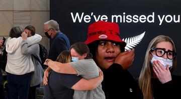 2 ülke arası seyahat yeniden başladı İlk uçak indi, gözyaşları sel oldu