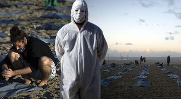 Dünyaca ünlü plaj ceset torbaları ile doldu