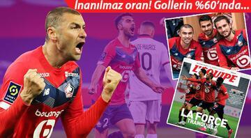 Fransada şampiyonluğa koşan Lillee Türk damgası Burak Yılmaz, Zeki Çelik ve Yusuf Yazıcı takımın yarısından fazlası...