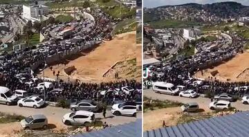 Mescid-i Aksada son durum: İsrail polisinden nöbet tutan Filistinlilere müdahale