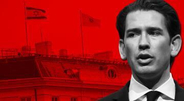 Avusturya Başbakanı Kurzdan skandal Başbakanlık binasına İsrail bayrağı çektirdi