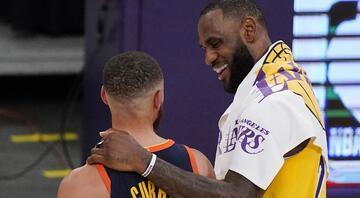 NBAde Gecenin Sonuçları: Warriorsı LeBron James önderliğinde deviren Lakers, play-off vizesi aldı