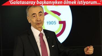 Son dakika: Mustafa Cengiz, basın toplantısından sonra geri dönüp Galatasaray başkanıyken ölmek istiyorum dedi