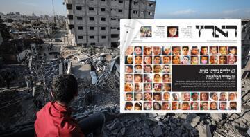 İsrail gazetesinden öldürülen Filistinli çocuklar manşeti
