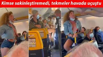 Kadın yolcu maske kavgasında rezalet çıkardı