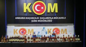 Ankarada sahte içki operasyonu: 12 gözaltı