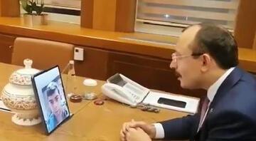 Bakan Muş, İzmirde rehin alınan Sonyıldırım ile görüştü