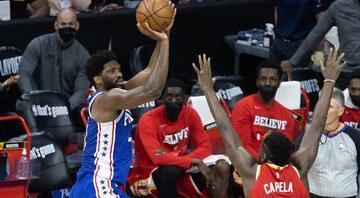 76ers, Hawks karşısında seriyi eşitledi Embiid, Iversonı hatırlattı...