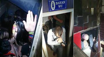 Baskın yapıldı, polisi görünce tuvalete ve kilere saklandılar
