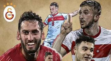 Galatasarayın milli takım paylaşımındaki Hakan Çalhanoğlu detayı olay oldu