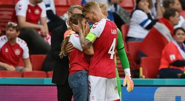 Christian Eriksenin sevgilisi Sabrina Kvist gözyaşlarına boğuldu