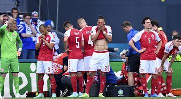 EURO 2020deki Danimarka - Finlandiya maçında Christian Eriksen fenalaştı Oyuncunun sağlık durumu hakkında ilk açıklama geldi