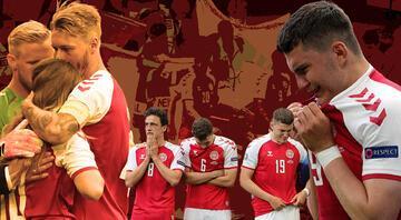 Danimarka - Finlandiya maçında korku dolu anlar Christian Eriksen yürekleri ağza getirdi...