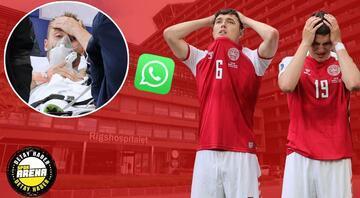 Son Dakika Haberi... Christian Eriksenin korku dolu anları sonrası karar böyle alındı Unutulmayacak telefon konuşması ve WhatsApp mesajı...