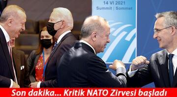 Kritik NATO Zirvesi başladı...  Biden, Erdoğanın yanına geldi İşte toplantıya damga vuran anlar