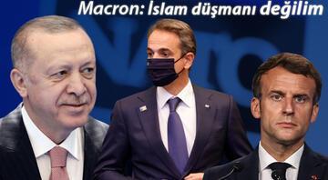 Cumhurbaşkanı Erdoğan, Miçotakis ve Macron görüşmelerinin detaylarını açıkladı