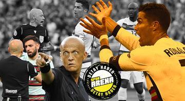 EURO 2020de heyecan dolu mücadele.. Cüneyt Çakır & Cristiano Ronaldo damgası Ronaldo çıldırdı, Cüneyt Çakır oralı olmadı...