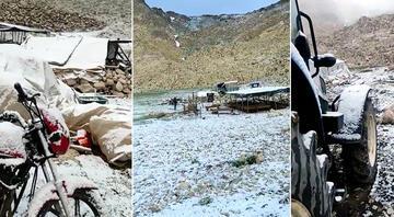 Antalyada kar sürprizi