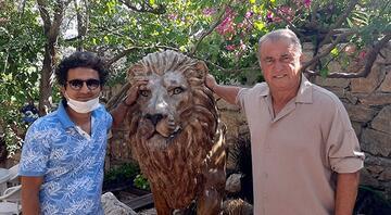 Fatih Terim, Bodrumdaki villasına 2 adet aslan heykeli yaptırdı