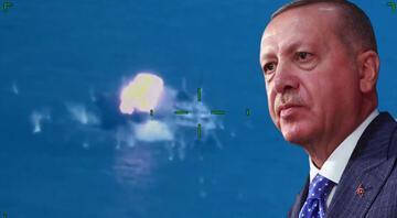 Cumhurbaşkanı Erdoğandan yerli füze Atmaca paylaşımı Hedefini tam isabetle vurmayı başardı