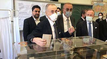 Son Dakika Haberi... Galatasarayın seçiminde Mustafa Cengiz de oy kullandı Son anda yetişti, Abdurrahim Albayrak...