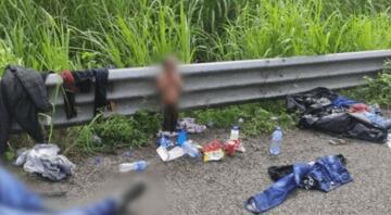 Babasıyla ABDye göç etmeye çalışan iki yaşındaki çocuk Meksikada yol kenarında bulundu