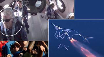 Richard Branson tarih yazdı Uzaya ulaşan milyarder iş adamı Dünyaya döndü