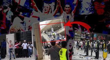 Son dakika haberi... EURO 2020deki tarihi final öncesi büyük kriz Meydan savaş alanına döndü, kapılar zorlandı ve...